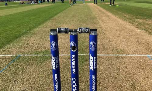 """ICC says the stumps """"have not changed in the last four years"""". — Twitter/File"""
