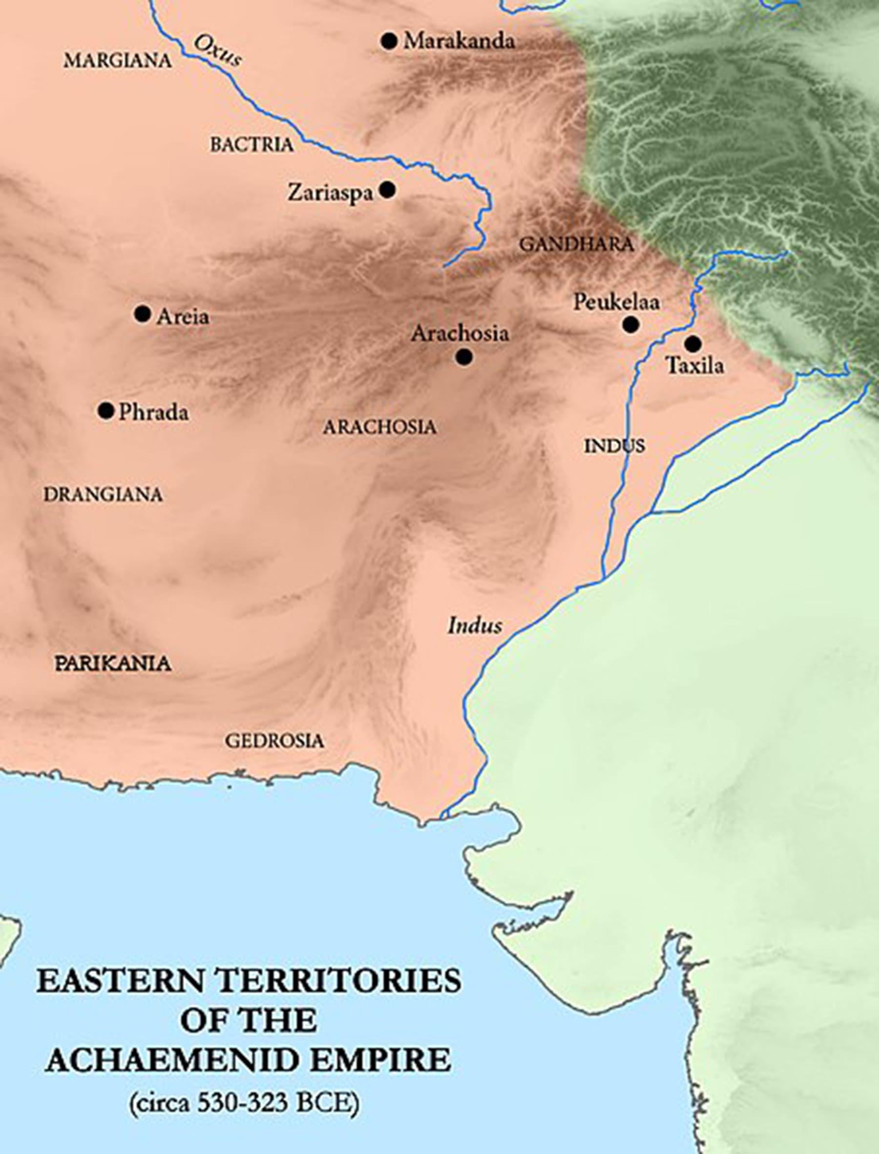 ہخامنشی سلطنت کی مشرقی ساتراپیاں