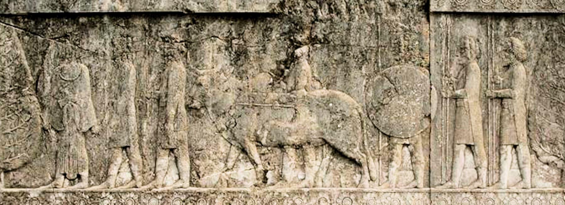 اپادان محل میں تراشیدہ Gandharans کی شکیلں