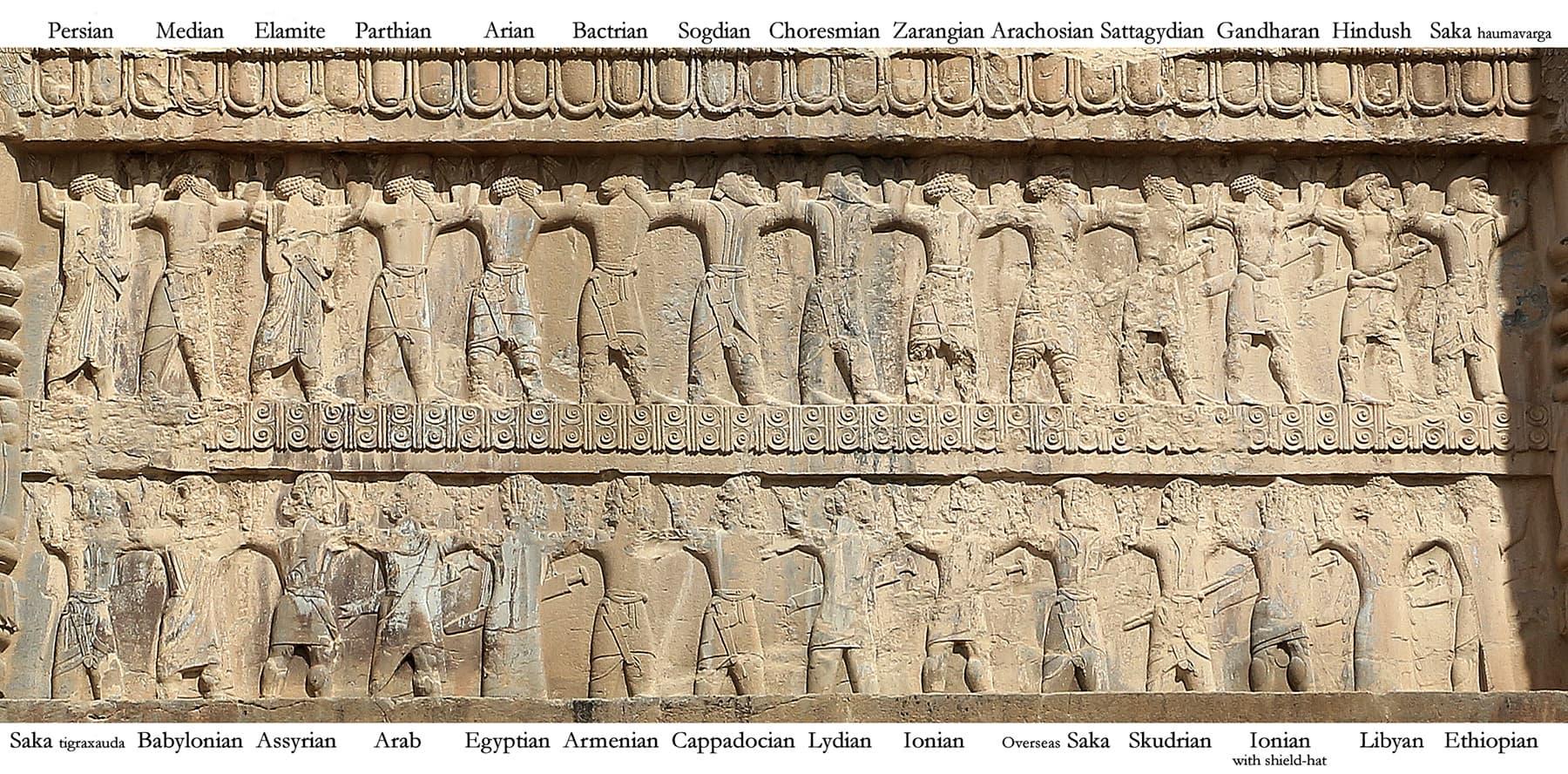 ہخامنشی سلطنت کی فوج میں شامل مخلتف خطوں کے سپاہی کی شبیہات
