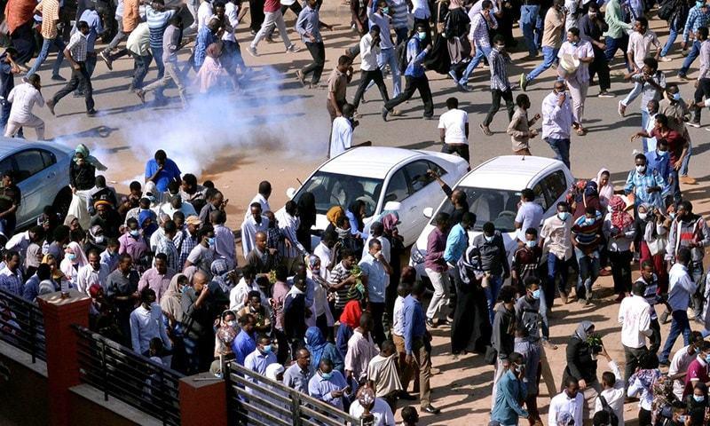 سوڈان میں کئی روز سے حکومت مخالف احتاج کا سلسلہ جاری تھا—فائل فوٹو بشکریہ الجزیرہ