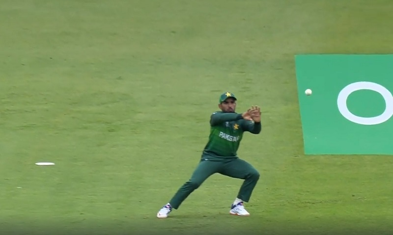 Asif Ali dropped two key catches against Australia on Wednesday. — Photo courtesy ICC Cricket World Cup