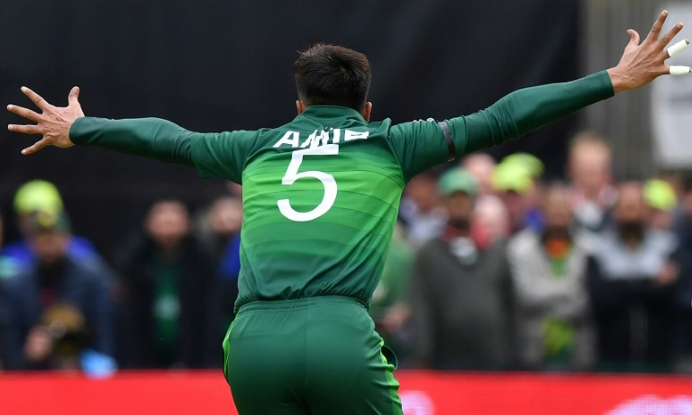 Mohammad Amir has taken 10 wickets at the World Cup. — AFP
