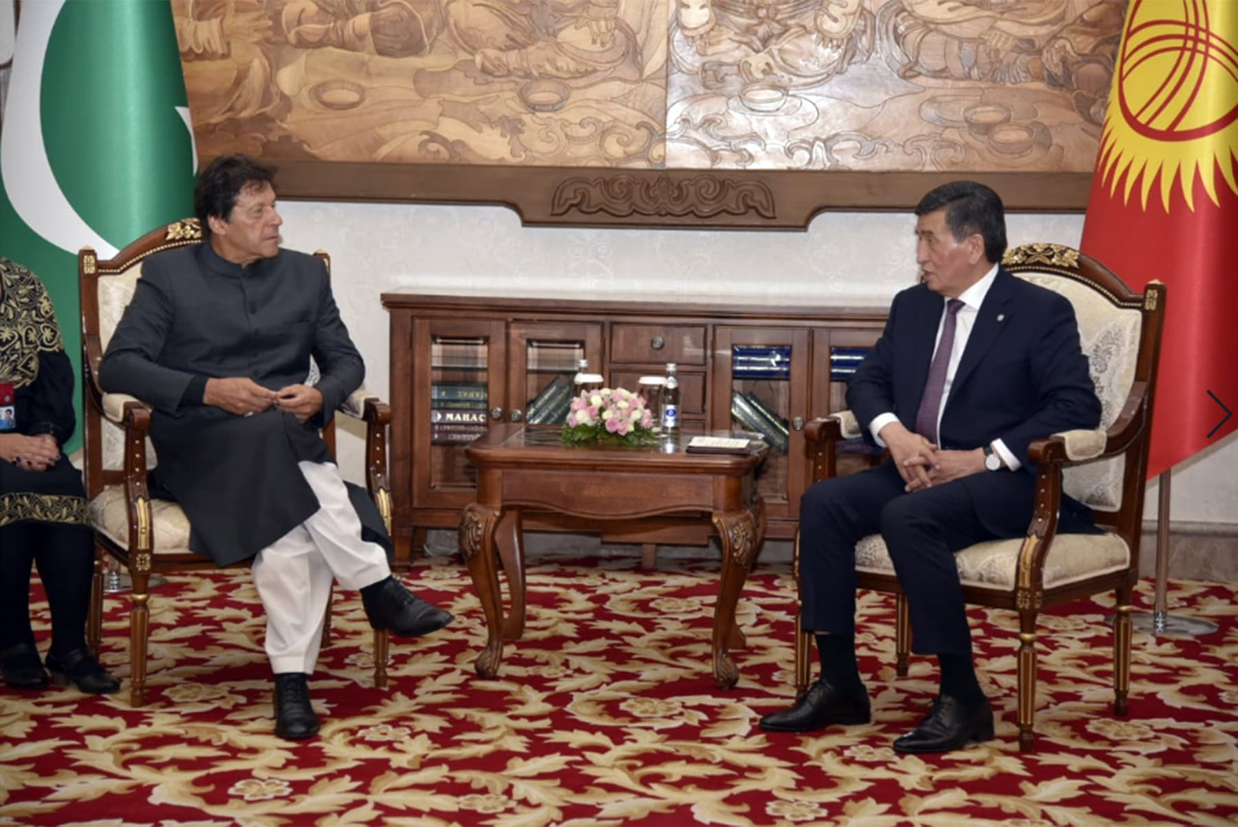 Prime Minister Imran Khan in a meeting with  Kyrgyz President Sooronbay Jeenbekov. — Photo courtesy PM Office
