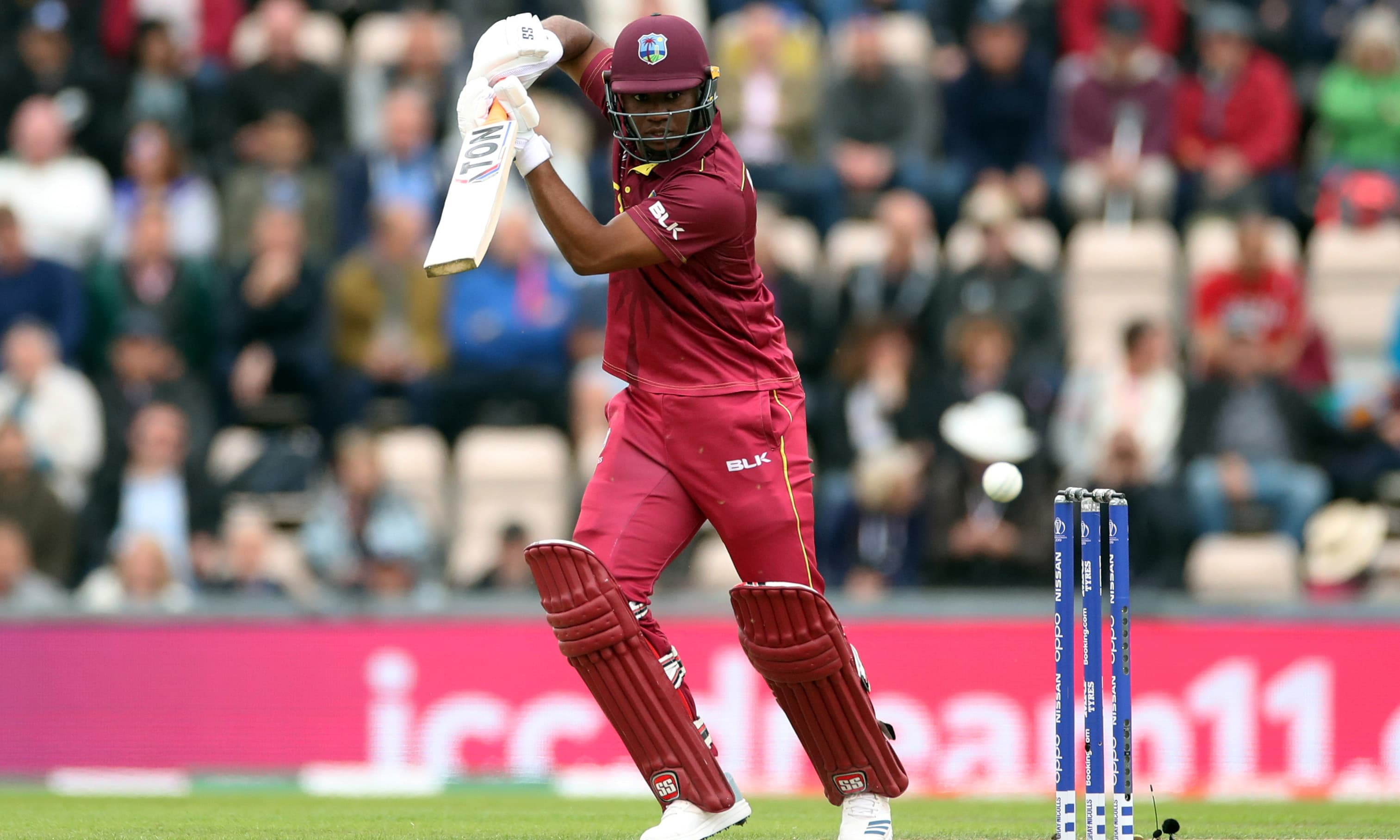 West Indies Evin Lewis in action   Action. — Reuters
