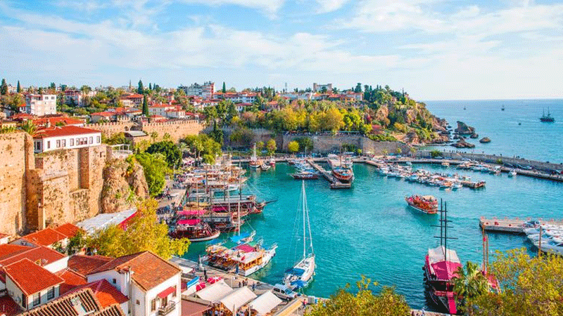 Expect the most stunning views by the seaside in Antalya.