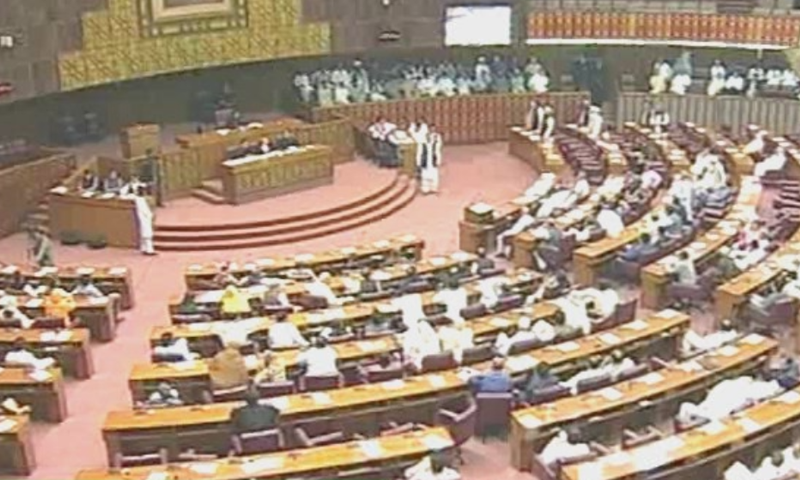 Government, opposition members point fingers at each other over NA ruckus