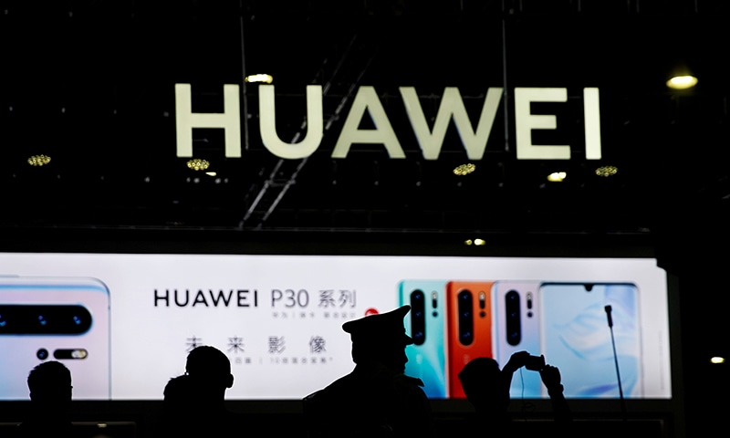 A Huawei company logo is seen at Consumer Electronics Show Asia 2019 in Shanghai. ─ Reuters
