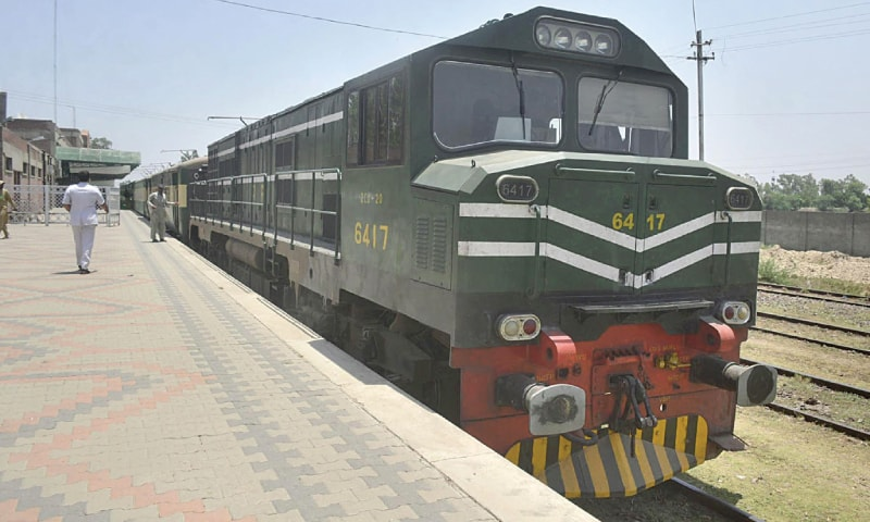 A view of the train at Wagah border after it returned empty from Attari as the Indian government stopped Sikh pilgrims from visiting Pakistan.—Online
