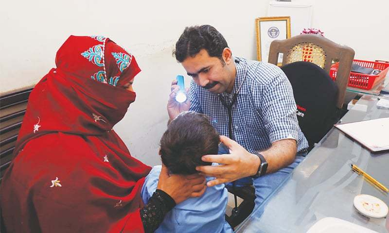 Of the 27,300 people screened so far in Larkana's Ratodero taluka, 803 people including 661 children have been tested HIV positive. — Reuters/File