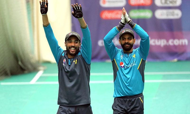 قومی ٹیم کے کھلاڑیوں نے جیت کا عزم ظاہر کیا—فوٹو:اے پی