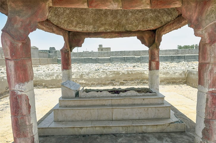 THE legendary singer's grave located in the Mohammad Shah graveyard.—Fahim Siddiqi / White Star