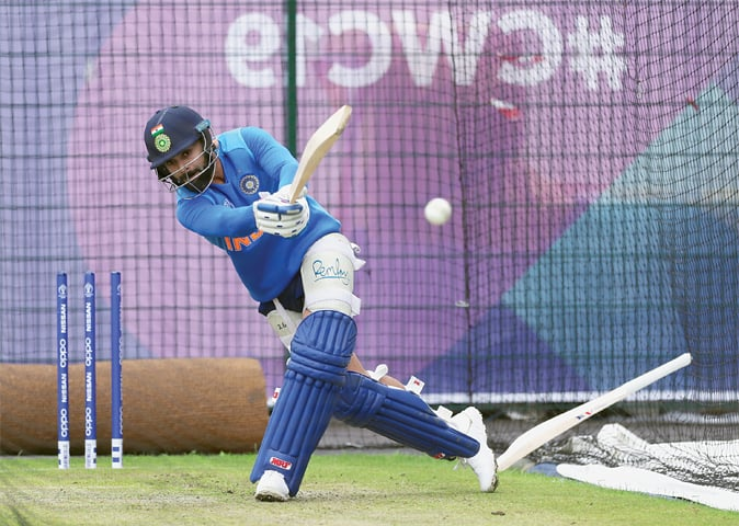 INDIAN captain Virat Kohli bats in the nets.—Reuters
