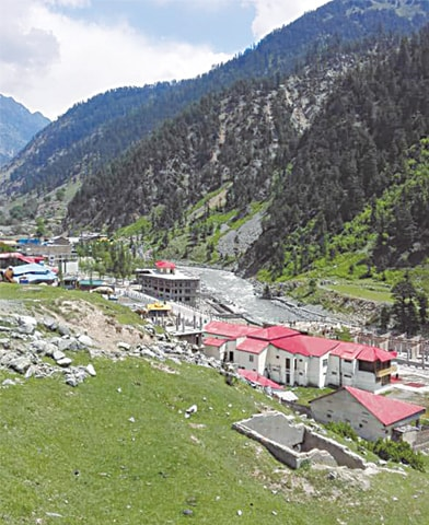 Unchecked construction of hotels on the bank of Swat River