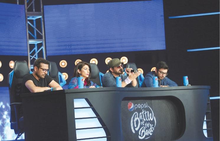 The judges panel: Bilal Maqsood, Meesha Shafi, Faisal Kapadia and Fawad Khan