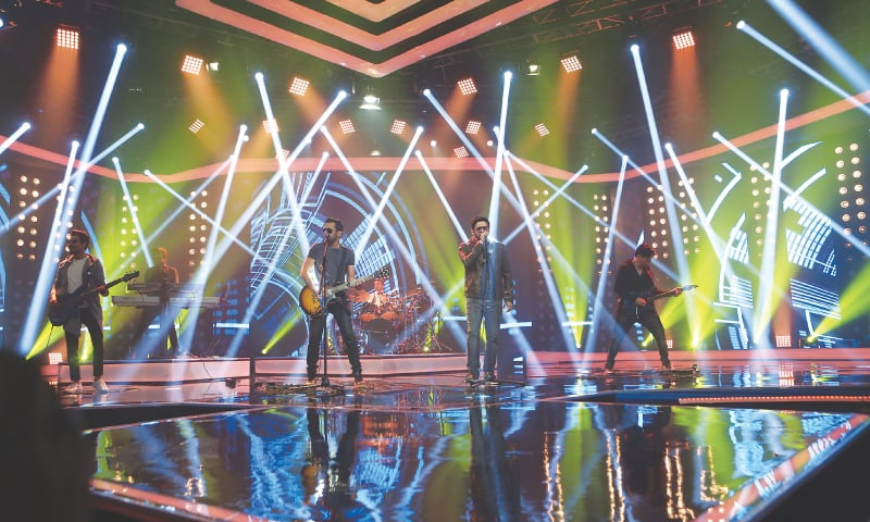 Bilal Maqsood and Faisal Kapadia of Strings perform in the fourth season of Pepsi Battle of the Bands