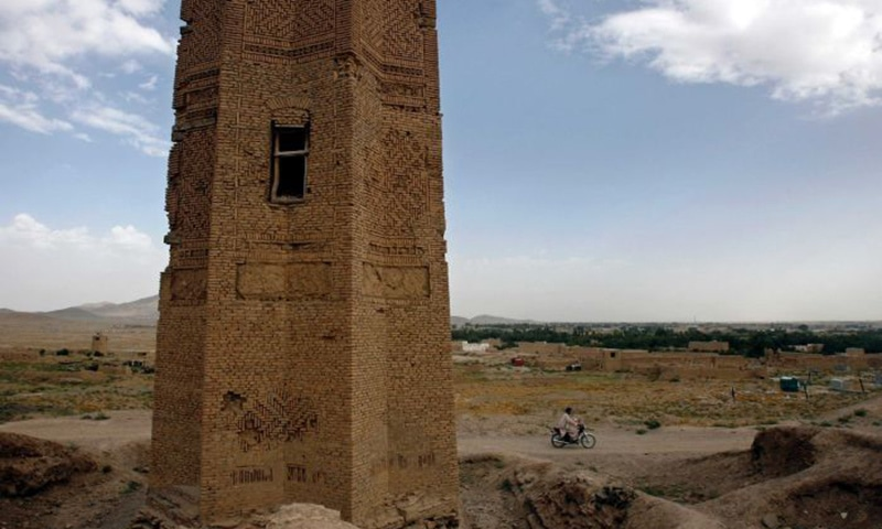 An ancient tower dating back 2,000 years in the historic Afghan city of Ghazni collapsed this week, local officials said. — Reuters via ABC News Online