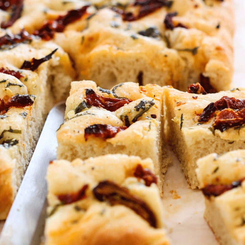 Sundried Tomato Focaccia Bread. Photo: Pinterest