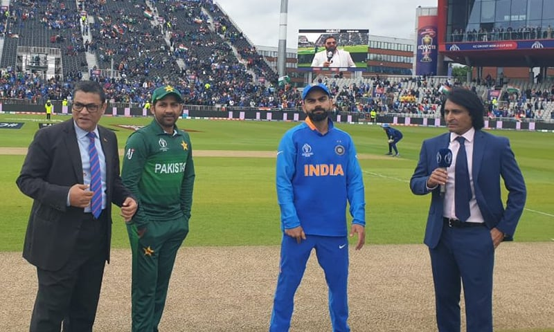 The two captains pictured during match toss. — Photo courtesy: PCB/Twitter
