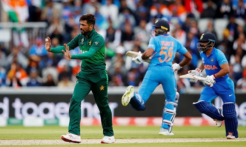 Mohammad Amir seen in action against India. — Reuters
