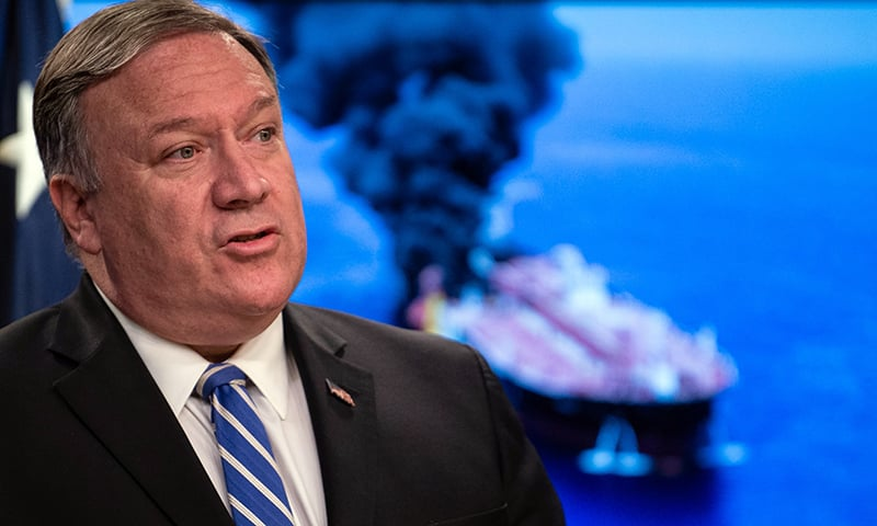 In this file photo taken on June 13,  US Secretary of State Mike Pompeo delivers remarks to the media at the State Department in Washington, DC. — AFP