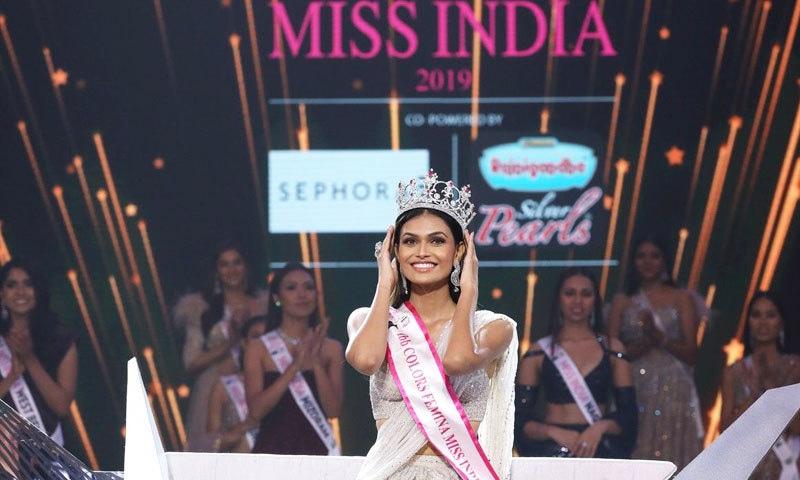 ثمن راؤ اب مس ورلڈ میں بھارت کی نمائندگی کریں گی—فوٹو: مس انڈیا ٹوئٹر