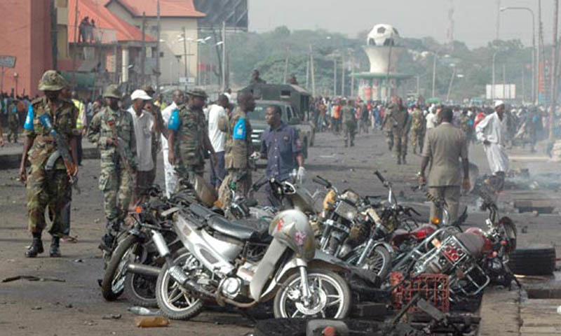 Three bombers detonated their explosives outside a hall in Konduga area where football fans were watching a match on TV. — AFP/File