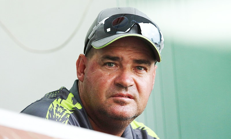 Head coach Mickey Arthur looks on during the 2nd ODI between South Africa and Pakistan held at the Kingsmead Cricket Stadium in Durban on January 22. ─ AFP/File