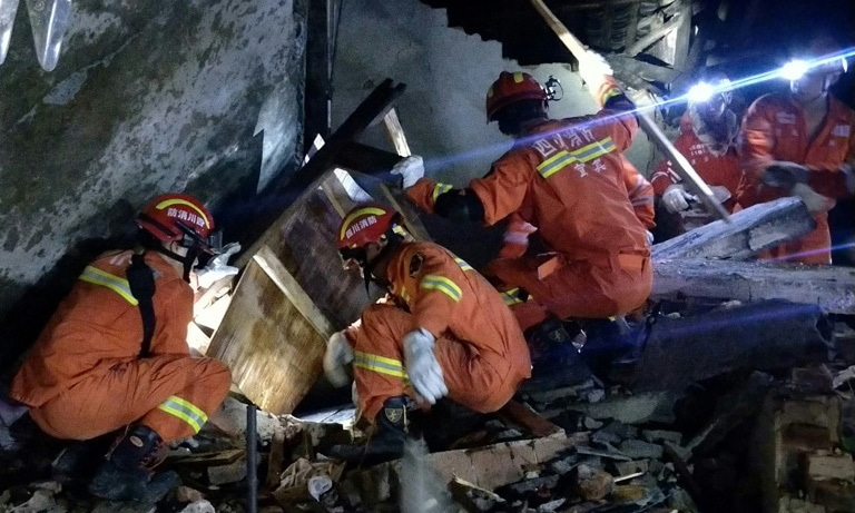Strong quake kills 12, injures 134 in China
