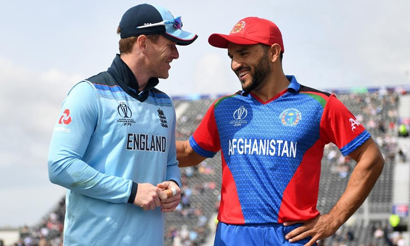 England captain Eoin Morgan won the toss and decided to bat first against Afghanistan at Old Trafford on Tuesday after being passed fit to play in the World Cup pool match. — Cricket World Cup Twitter