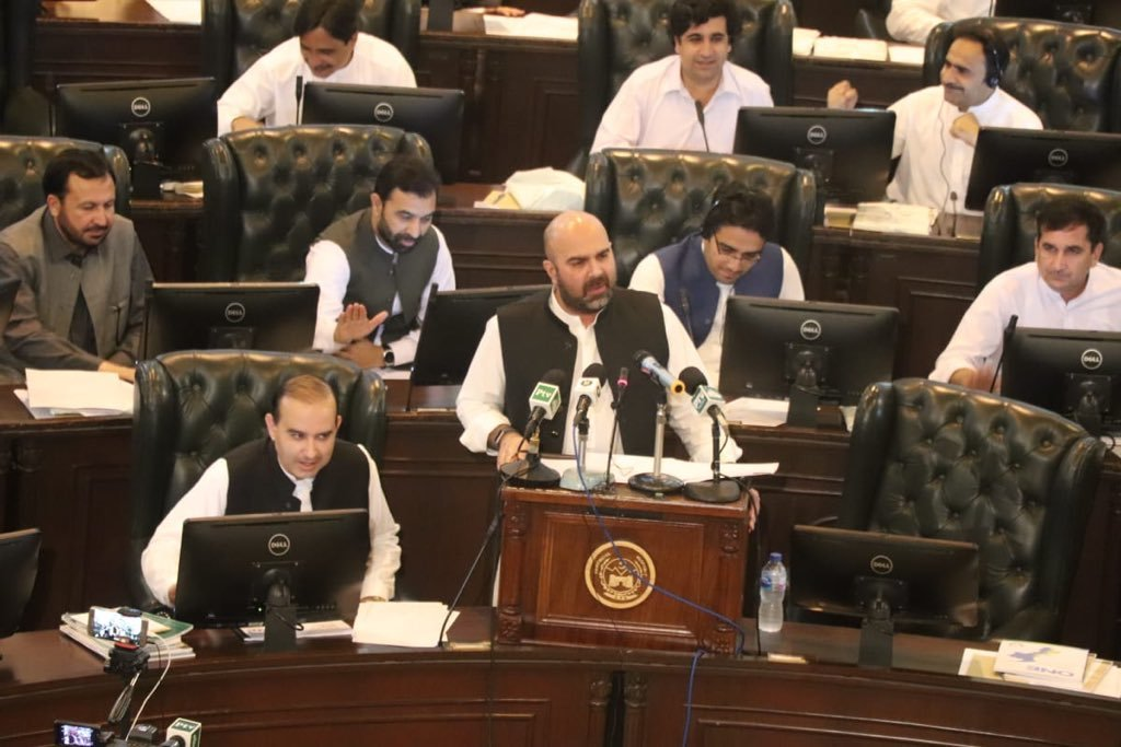 KP Finance Minister Taimur Saleem Jhagra presented the provincial budget for the financial year 2019-20