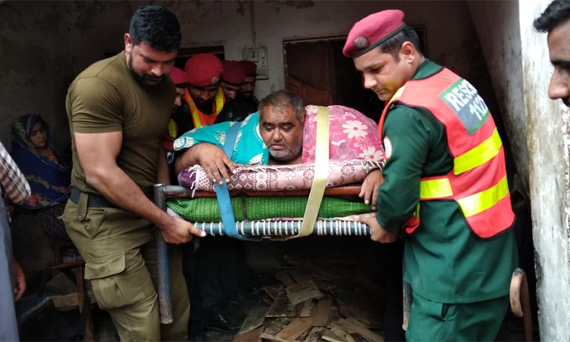 Noorul Hassan, 55, could not travel in an ambulance by road due to his weight. — Photo provided by author