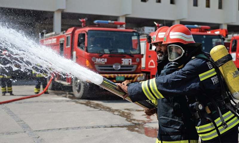 Under a project initiated in 2008, the fire stations were to be established at G-11, I-9, I-14 and Model Town Humak. — APP/File