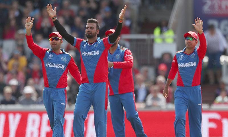 افغانستان کو انگلینڈ کے خلاف میچ میں 150 رنز سے شکست ہوئی تھی— فوٹو: رائٹرز