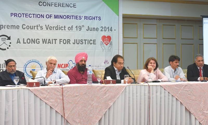 Speakers at the seminar on Protection of Minorities' Rights on Wednesday. — White Star