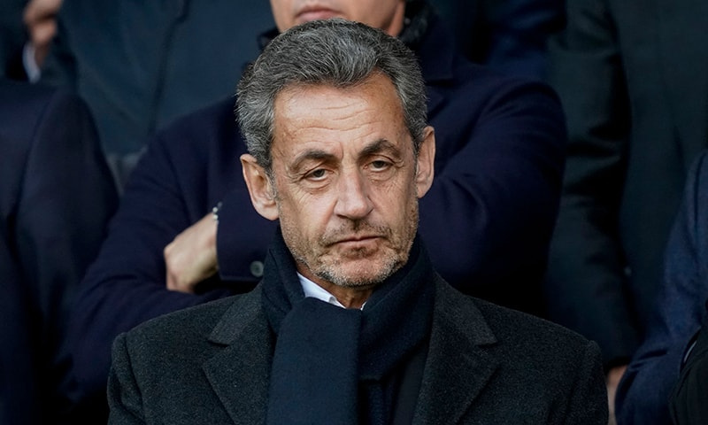 In this file photo taken on May 4, French former President Nicolas Sarkozy is pictured as he attends a football match at the Parc des Princes stadium in Paris. — AFP