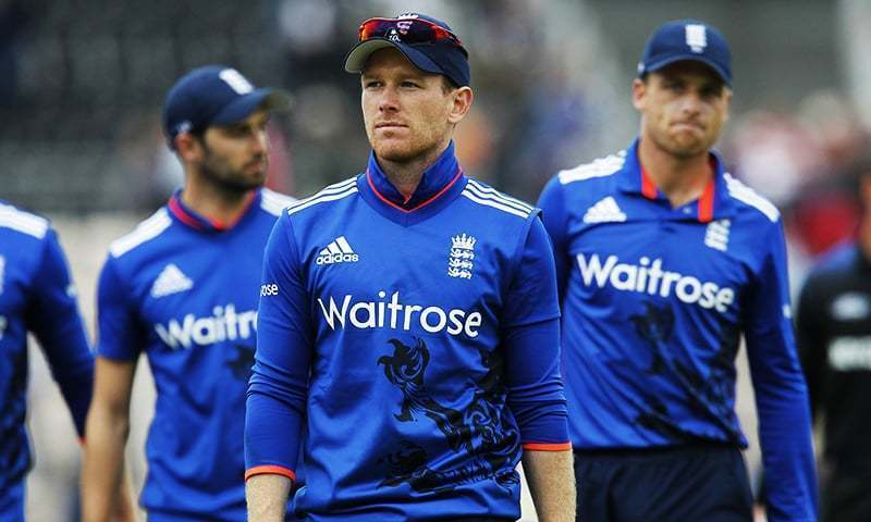 Morgan's aerial assault helped the England captain to a career-best 148 as the hosts piled up 397 for six. — AFP/File