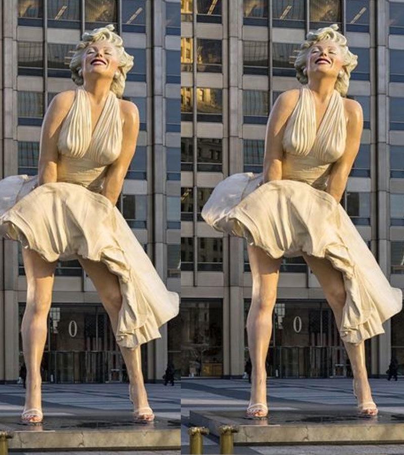 اداکارہ کا چوری ہونے والا مجسمہ ان کی 1955 میں ریلیز ہونے والی فلم کے سین پر بنایا گیا تھا—فوٹو: پنٹ ریسٹ