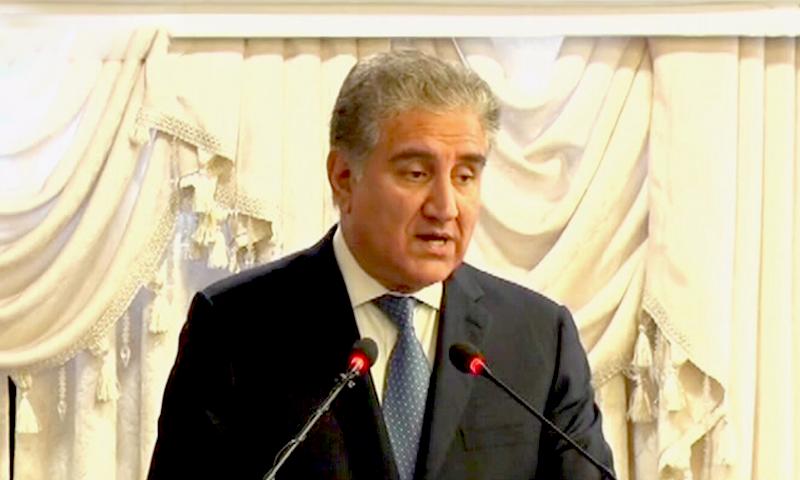 یہ خوش آئند ہے کہ سب نے افغان امن عمل کے لیے فوجی نہیں بلکہ سیاسی ضل کی ضرورت کو سمجھا، شاہ محمود قریشی — فوٹو: ڈان نیوز