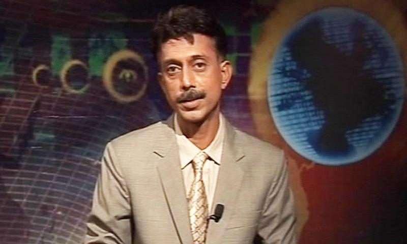 شان ڈھر نے سندھی ٹی وی چینل پر اینکر کی ذمہ داریاں بھی نبھائیں—فوٹو: فیس بک