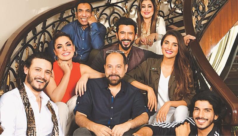Left to right: Osman Khalid Butt, Meera, Nayyar Ejaz, Saqib Malik, Ali Kazmi, Nisho, Amna Ilyas and Mohsin Abbas Haider