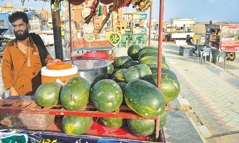 All the watermelons in the world to make sherbet. / Photos by Fahim Siddiqi / White Star.