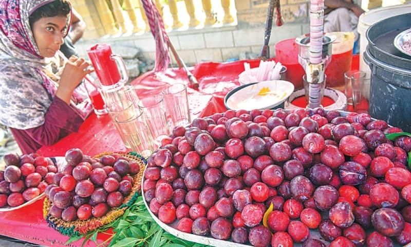 A cart which sells plum sherbet. / Photos by Fahim Siddiqi / White Star.