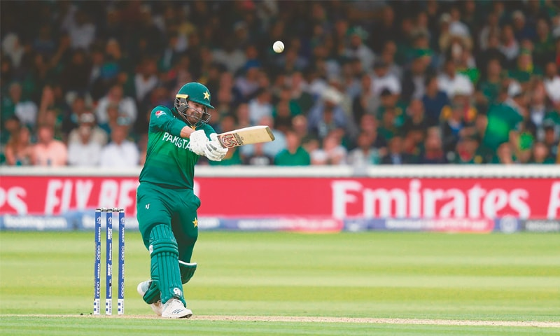Haris Sohail hits out during his whirlwind innings against South Africa at Lord's.— AFP/File