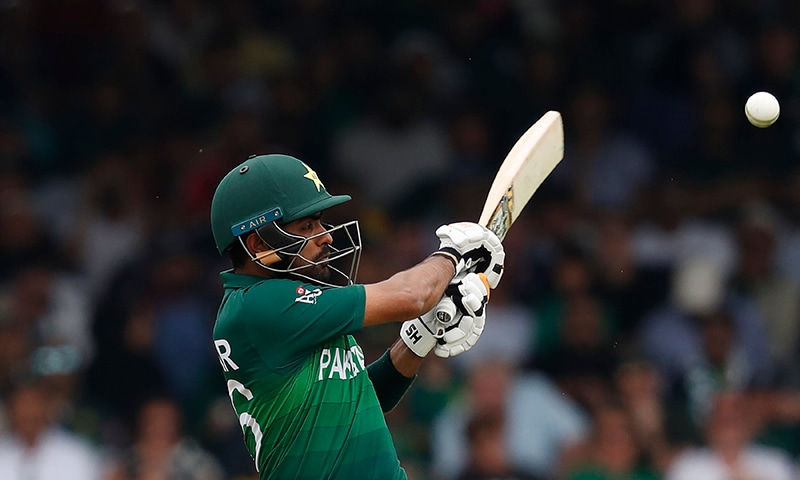 Babar Azam plays a shot. — AFP