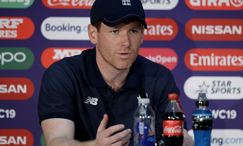 England's captain Eoin Morgan speaks during a press conference at Lord's cricket ground in London. ─ AP