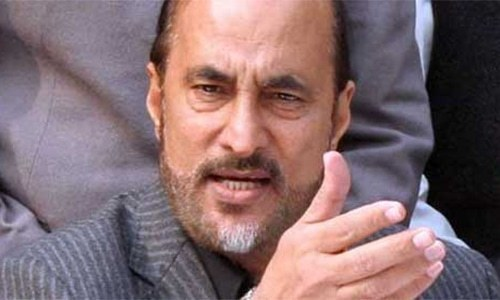 Pakistan Tehreek-i-Insaf leader Babar Awan was indicted in the Nandipur power plant corruption reference. — APP/File