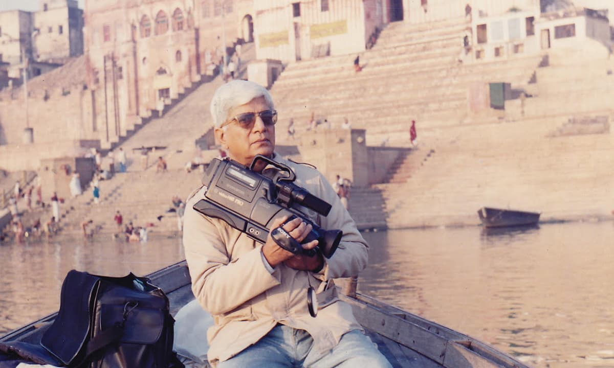 Mushtaq Gazdar in Calcutta in mid-1990s