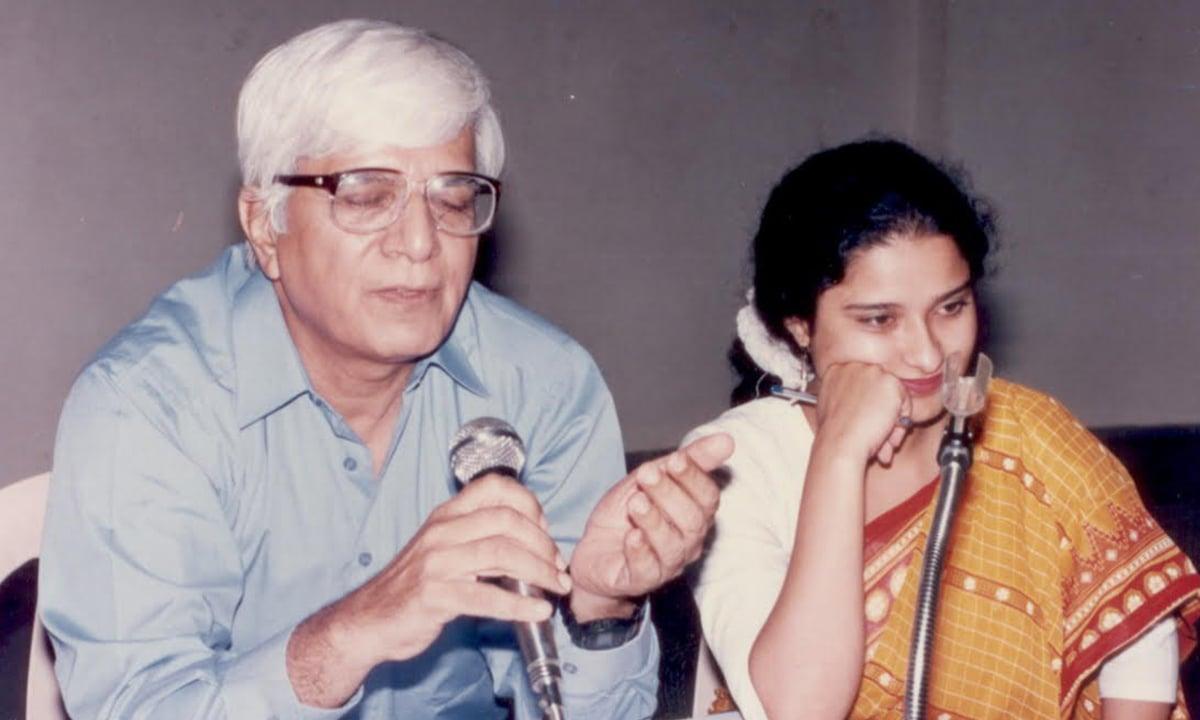 Mushtaq Gazdar with actor Sania Saeed