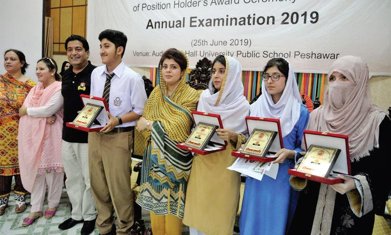 Students of private schools top Peshawar board SSC exams
